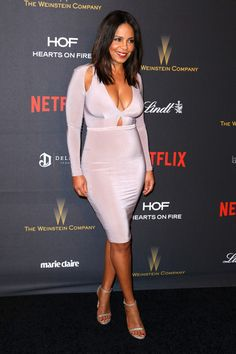Sanaa Lathan attends the 2016 Weinstein Company and Netflix Golden Globe Awards After Party at The Beverly Hilton on January 10, 2016 in Los Angeles, California.
