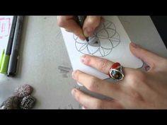 One Tangle Mandala - Greens - YouTube
