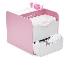 b.box - Pink Diaper Caddy