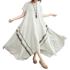 OAKBAY Summer Dress, Womens Dress, Loose Fitting Dress, Linen Dress, Pary Dress