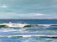 Morning Wave Oil painting www.michelezuzalek.com
