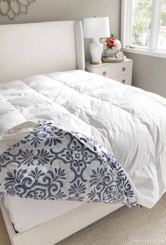 The best size of duvet inserts! Home Bedroom, Bedroom Decor, Master Bedroom, Bedroom Ideas, Bedrooms, White Coverlet, Blogger Home, Driven By Decor, New England Homes