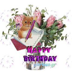 Best Happy Birthday Wishes giortazo Make someone's birthday more special Pics And Gifs Animated Happy Birthday Wishes, Happy Birthday Greetings Friends, Happy Birthday Fun, Happy Birthday Balloons, Happy Birthday Messages, Useful Life Hacks, Feeling Loved, Love Art, Gifs