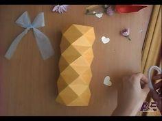 3D Origami Vase Tutorial #2 - Origami Home Decoration - YouTube