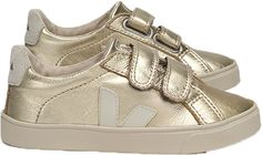 Gold Velcro Shoes