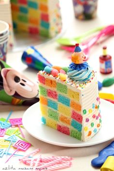 DIY: CHECKERED BIRTHDAY RAINBOW CAKE