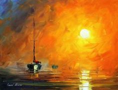 YELLOW FOG by Leonid Afremov by Leonidafremov