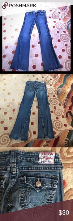 True Religion Dark Flare Jeans True Religion Dark Flare Jeans in Size 30 True Religion Jeans Flare & Wide Leg