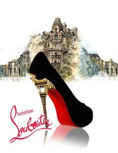 Christian Louboutin, shoe illustration, Fashion Illustration