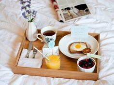 Surprise mom with DIY breakfast in bed on Mother's Day.