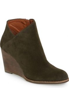 Lucky Brand 'Yakeena' Zip Wedge Bootie (Women) available at #Nordstrom