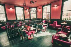 THE STAR OF BETHNAL GREEN - Hackney, London by KAI Interiors - Pink Restaurant Floor