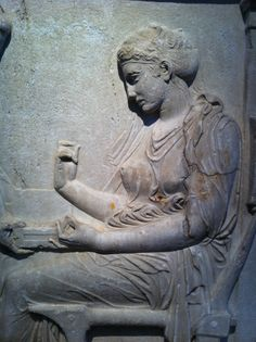 Grave Stele- detail  from 4th century BCE Greece.From the collection of the Museo Archeologico Nazionale di Napoli
