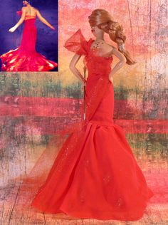 One of a Kind Doll Katniss Everdeen – Girl on Fire Dress - The Hunger Games