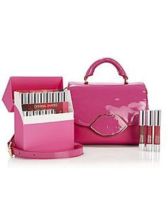 The Limited Edition Izzy satchel available with Clinique UK chubby sticks exclusively at House of Fraser from Feb. All proceeds go to the Great Ormond Street Hospital Charity - LGHQx I Love My Mum, Lulu Love, Perfect Pink, Pretty In Pink, Best Kisses, Love Kiss, Lulu Guinness, Pretty Packaging, Powder Puff