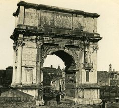 Roma Triumph Arch Titus Italy Old Stereo Photo 1900