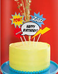 Super hero bday cake