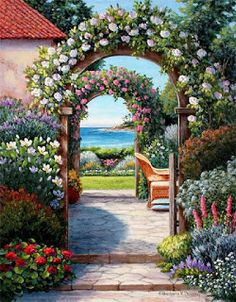 Science Discover Diamond Painting Kit Road to the Sea Square Mosaic Diamonds landscape Marine theme Abstract Diam Garden Painting Garden Art Beautiful Gardens Beautiful Flowers Studio Background Images Colorful Paintings Decoupage Scenery Art Gallery Studio Background Images, Garden Painting, Garden Art, Colorful Paintings, Scenery Paintings, Face Paintings, Beautiful Gardens, Beautiful Flowers, Decoupage