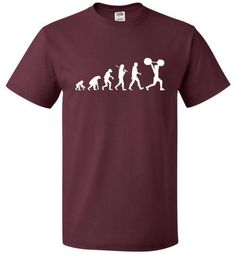 Evolution Weightlifting Shirt Funny Body Builder Tee