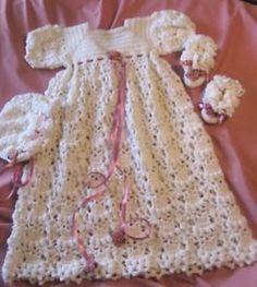 Free Crochet Christening Layette Patterns | CROCHET PATTERN LAYETTE SET - Crochet Club