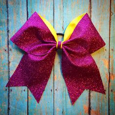 New MEGA sparkle cheer bow we're making!  www.facebook.com/MidnightBows  Instagram - @MidnightBows