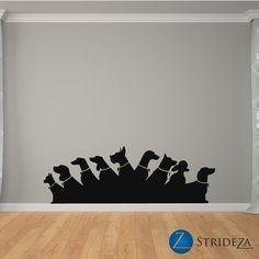 Dog Wall Decor fashion girl silhouette walking with dog stock photo | silohuettes