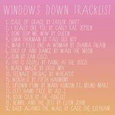 Windows Down Playlist
