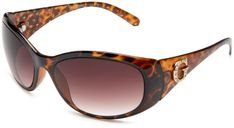 guess womens cgry brown round sunglasses