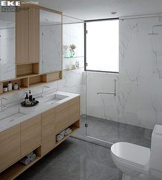 Thiết kế cải tạo căn hộ Panorama 130m2 - EKE INTERIOR Double Vanity, Bathroom, Projects, Bath Room, Log Projects, Full Bath, Bathrooms, Downstairs Bathroom, Bathing
