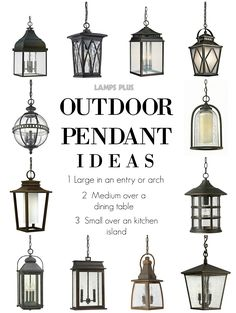 Outdoor Lighting - Outdoor Pendant Ideas from @lampsplus #outdoorliving #outdoorlighting #pendantlighting
