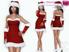 Full Perm Rigged Mesh Ladies Christmas Outfit Set V.2 - Fashion Kit