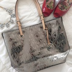 Mirrored Metalic Silver Michael Kors Shoulder Bag NWOT - Gently worn only a few times - Authentic Michael Kors Bags Shoulder Bags