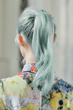 Blue ponytail
