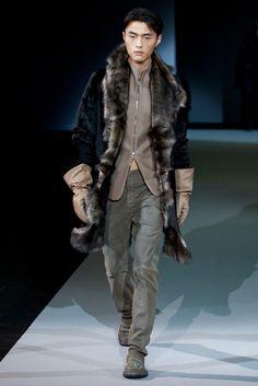 Emporio Armani Fall 2011 Menswear Collection Slideshow on Style.com