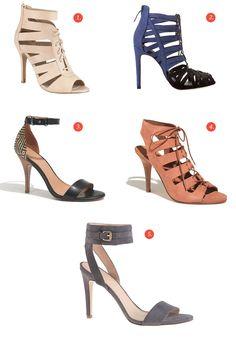 Des sandales à talons aiguilles (en soldes!)