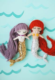 Follow this tutorial to DIY a mermaid doll.