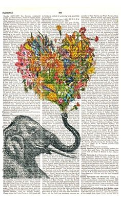 This would be the perfect satisifier for my desire to have a Water for Elephants inspired print in my home.