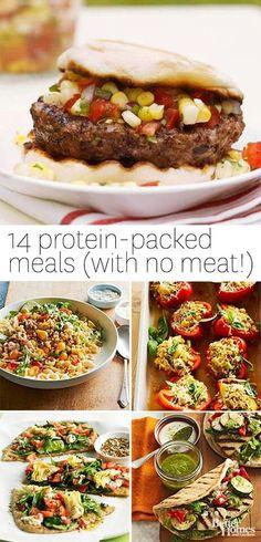 High protein vegetarian meals