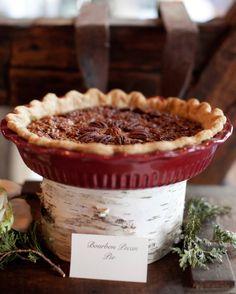Skip the wedding cake and instead serve a classic Christmas dessert, like a homemade bourbon pecan pie.