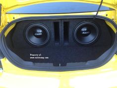 2010-2015 Camaro Coupe Dual 12 Ported Subwoofer Box