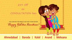 "Obe2Slim  Wishes You all Very Happy Rakshabandhan.    On This Rakshbandhan  Gift your Loves  Ones ""Healthy and Fit Lifestyle . On This Occasion Obe2Slim offer 25% Discount on consultation Fee."
