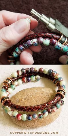 Leather   porcelain bracelet kit