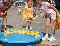 Classic carnival game is always a hit with the kids.  For a class party, move the duck pond inside!  From CarnivalSavers.com