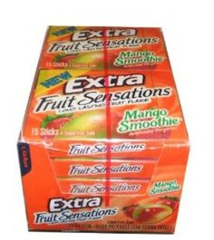 I'm learning all about Wrigley Extra Fruit Sensations Mango Smoothie Fruit Flavored Chewing Gum at Wrigley's Extra, Extra Gum, Cube Gum, Bubble Gum Flavor, Gum Flavors, Mini Donuts, Chicken Meal Prep, Food Goals, Chewing Gum