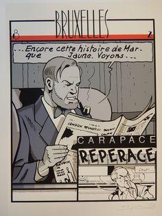 Jacobs, E.P. - Gesigneerde zeefdruk Carapace Répérage - Blake et Mortimer (1982) - W.B.