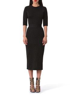 Angelina Contrast Waist Diamond Print Dress – Loft324