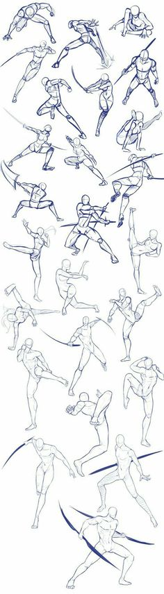 Body positions, weapons, fighting, swords; How to Draw Manga/Anime