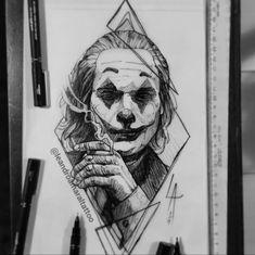 Joaquin Phoenix Joker Sketch By SuperTwisty Joker Sketch, Joker Drawings, Dark Art Drawings, Pencil Art Drawings, Realistic Drawings, Pencil Sketching, L'art Du Portrait, Portrait Sketches, Tattoo Sketches