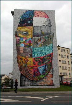 Brest, j'aime beaucoup ce mur, il donne des couleurs à notre ville qui en manque tant...