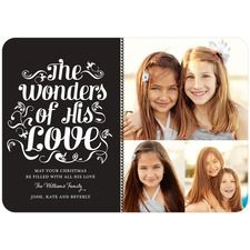 The Wonders of His Love. Cute Christmas Photo Cards and Holiday Greetings | ChristmasCardsByDesign.com
